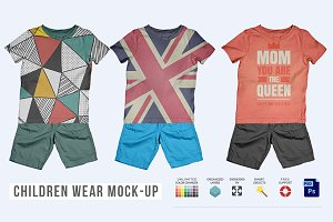 Children Wear Mock-Up