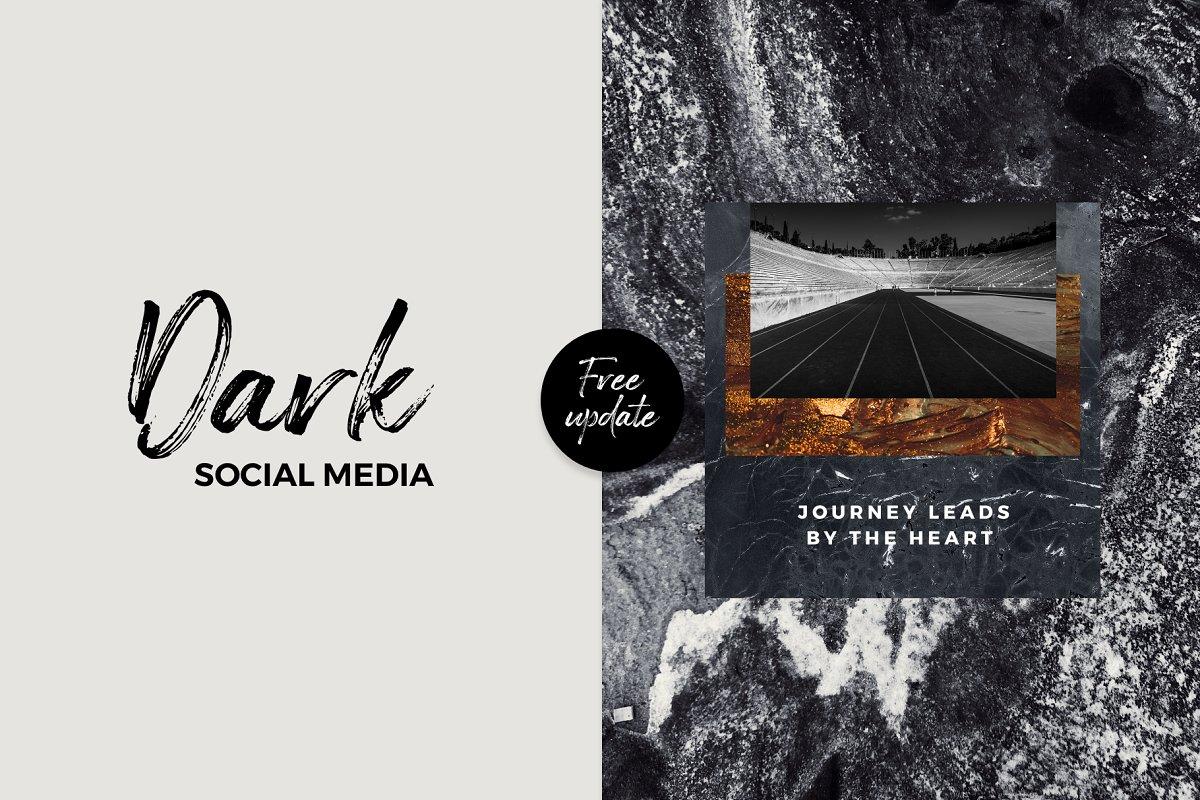 Dark Social Media Pack