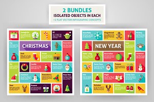 Christmas & New Year Infographics