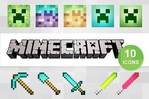 10 Minecraft Icons