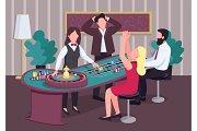 Casino flat vector illustration