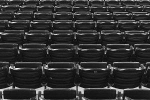 Empty Seats at baseball diamond.