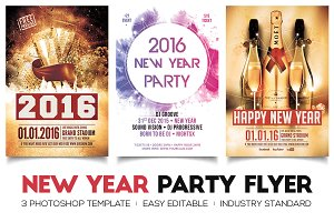 New Year Flyers Bundle
