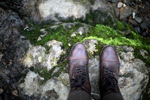 Boots on A Rock