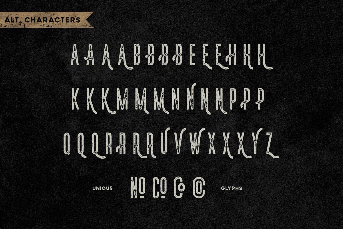 Norsten Vintage Condensed Typeface