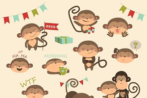 Vector set with monkey