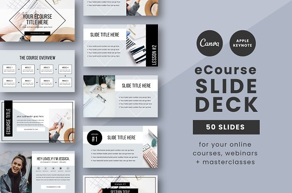 eCourse Slide Deck Template in Keynote Templates - product preview 8
