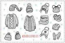Winter Clothes sketch set