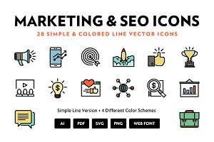 Marketing & SEO Line Icons