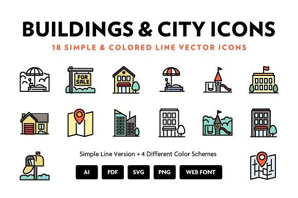 City Line Icons