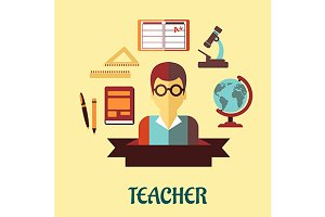 Education flat infographic design