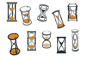 Set of hourglasses or egg timers