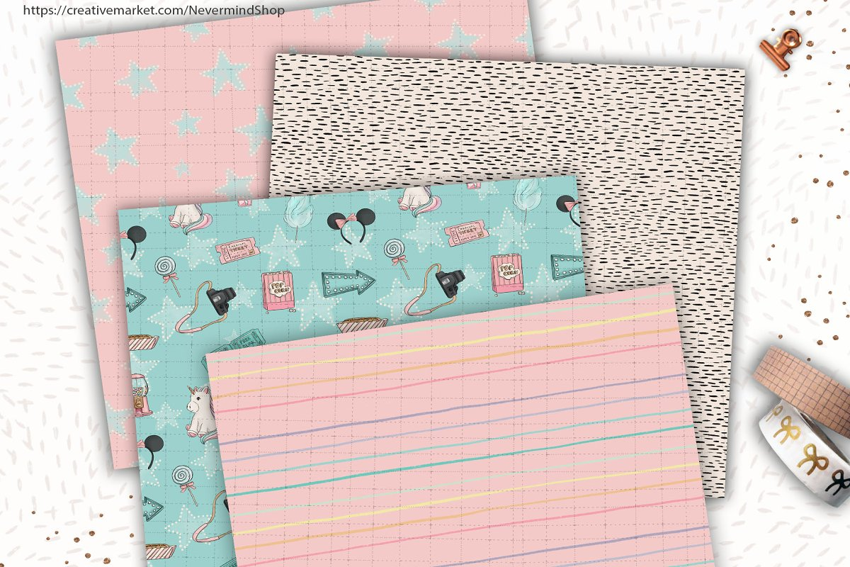 Carnival digital paper pack