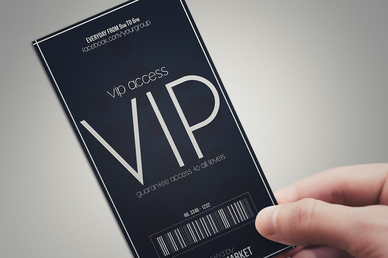 Minimal style VIP PASS cards Card Templates Creative Market – Vip Ticket Template