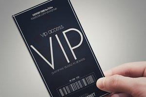 Minimal style VIP PASS cards