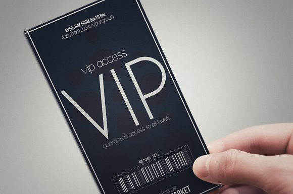Minimal style VIP PASS cards Card Templates on Creative Market – Free Vip Pass Template