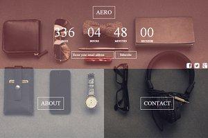 Aero - html coming soon page