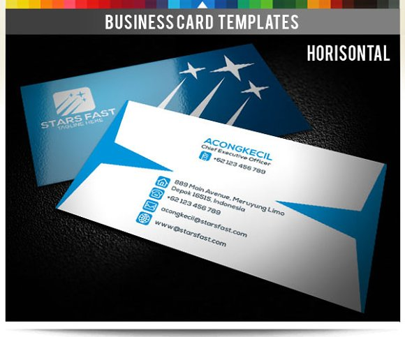 Premium business card stars fast business card for Get business cards fast