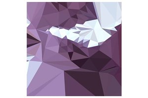 Dark Pastel Purple Abstract Low Poly