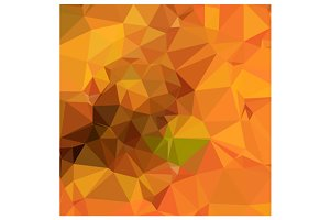Deep Carrot Orange Abstract Low Poly