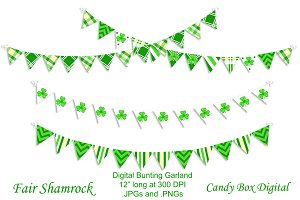 Fair Shamrock Bunting Garland