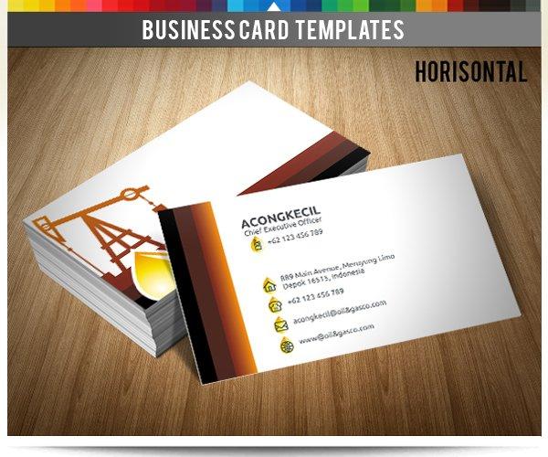 Premium Business Card Oil Gas Co Business Card Templates