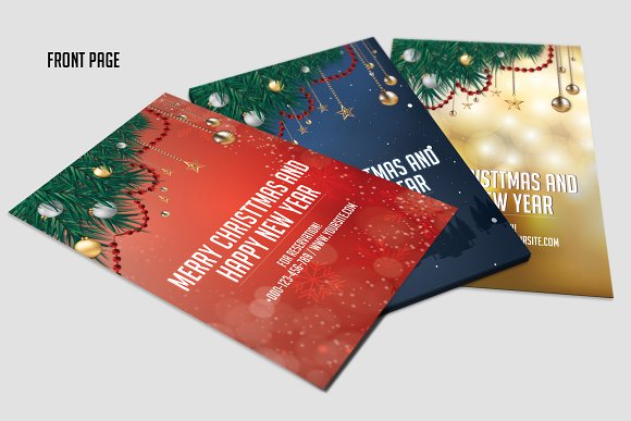 christmas new year invitation v131 flyers