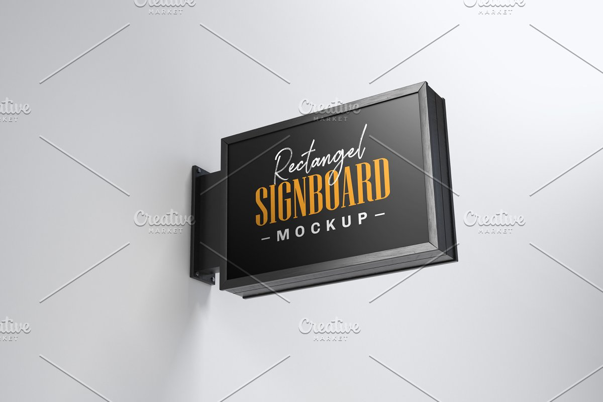 Street Signboard Mockup Set