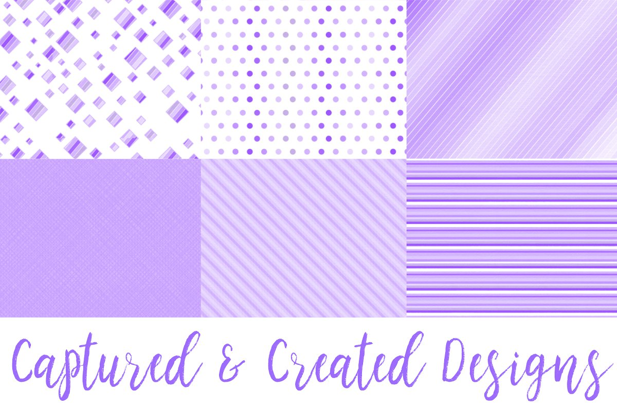 22 Cheerful Purple Patterned Papers