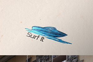 Surf It Logo Template