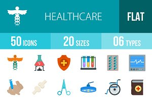 50 Healthcare Flat Multicolor Icons