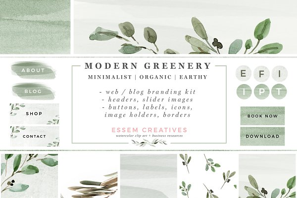 Greenery Web Blog Branding Kit