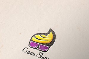 Cream Shop Logo Template