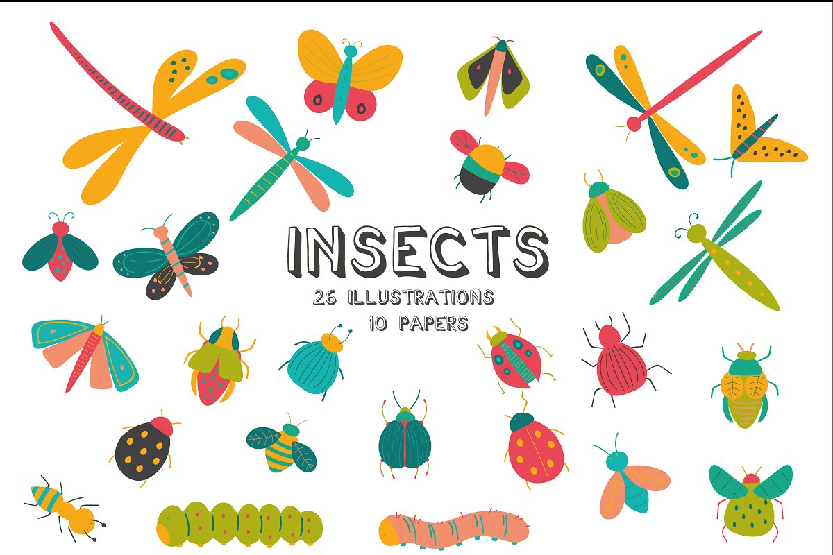 Insects pack in Objects - product preview 3
