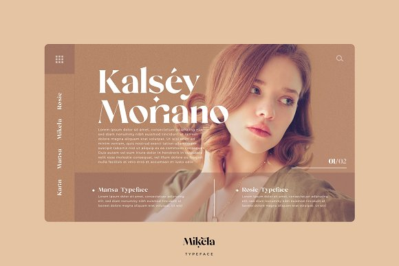 Mikela - 50% OFF Gorgeous Typefaces in Serif Fonts - product preview 24