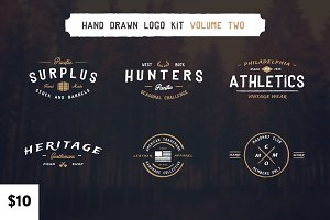 Vintage Hand Drawn Logos: Volume Two