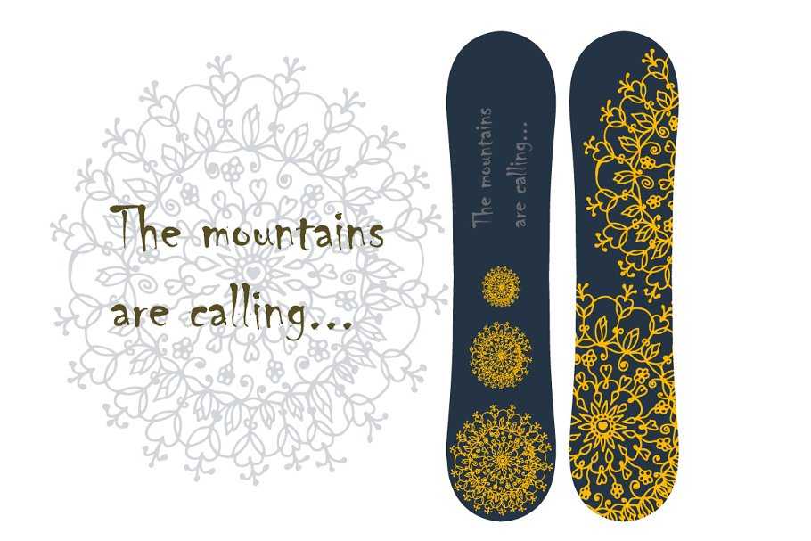 Print for snowboard