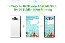 Galaxy A5 2d Case Back Mock-up