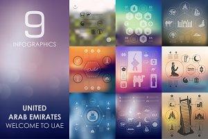 9 United Arab Emirates infographics