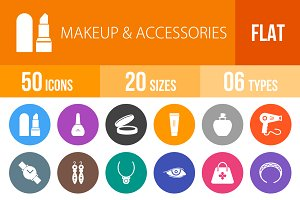 50 Makeup & Accessories Flat Round