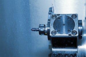 Turret  tool on the machine CNC