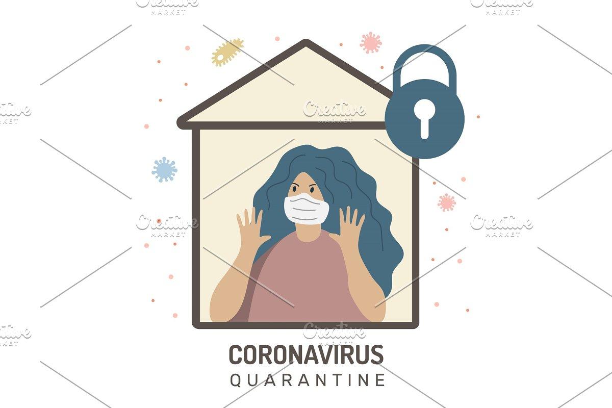 Woman defends from coronavirus, home