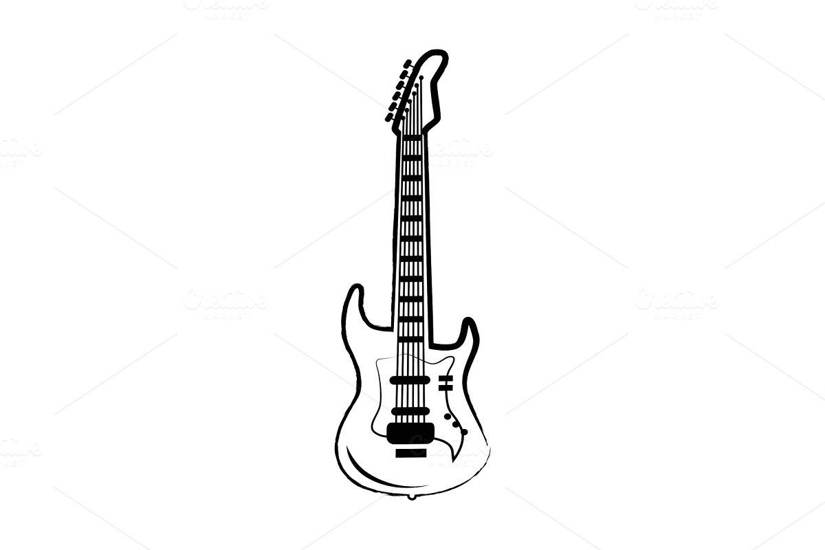 Guitar Big Icon on Vector