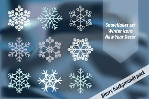 Snowflakes set for Winter Holidays