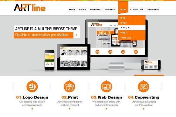 Artline html template website templates creative market artline html template maxwellsz