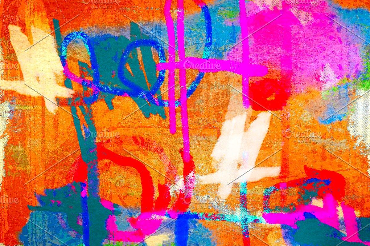 Orange Graffiti Crush Art Collage