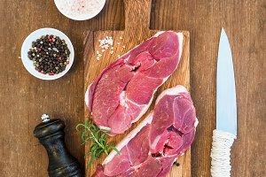 Raw fresh meat lamb entrecote