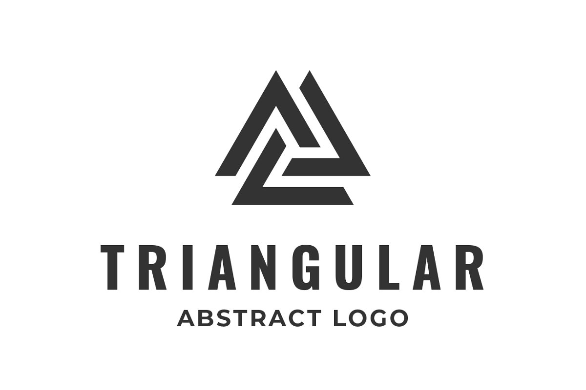 Triangle Logo Abstract Finance Icon