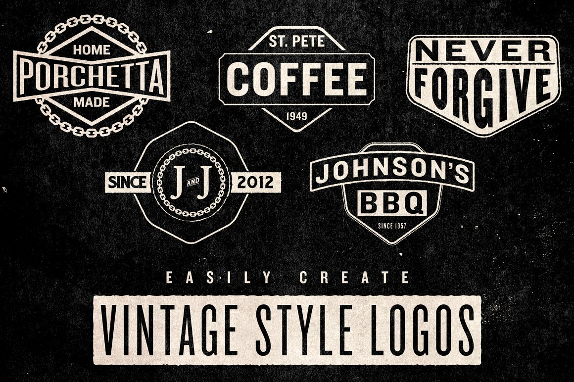 Vintage Logo Pack Objects Creative Market
