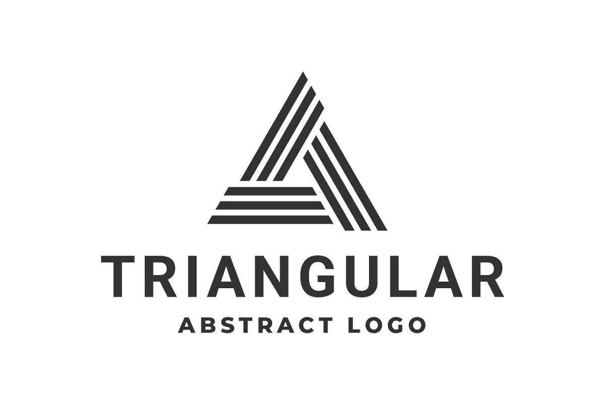 Triangle Logo Abstract Finance
